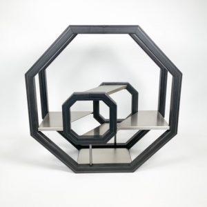 3d display uit staal en RVS
