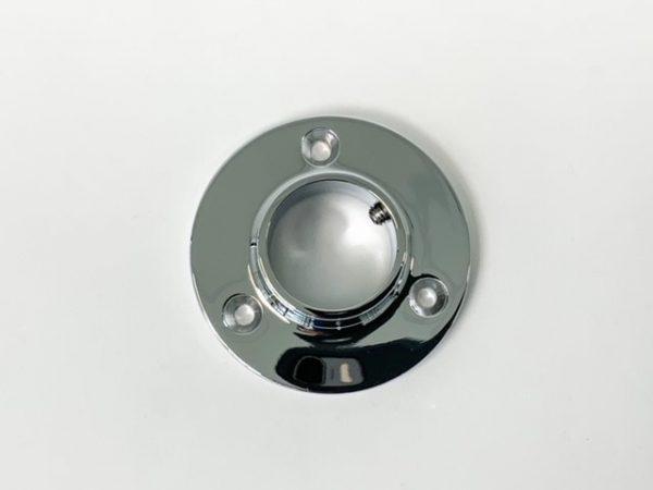 Buissteun Muurrozet 25 mm chroom bovenaanzicht Fittings