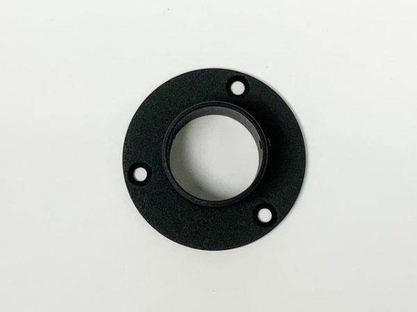 Buissteun muurrozet RAL 9005 mat zwart fijnstructuur bovenaanzicht