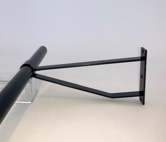Garderobesteun extra sterk RAL 9005 mat zwart