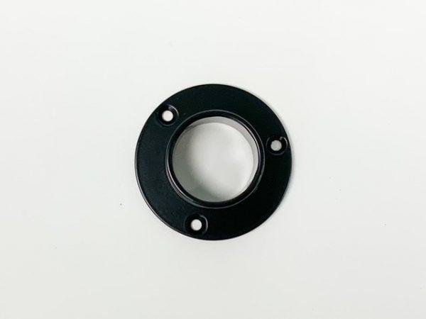 Buissteun muurrozet extra sterk RAL 9005 mat zwart bovenaanzicht