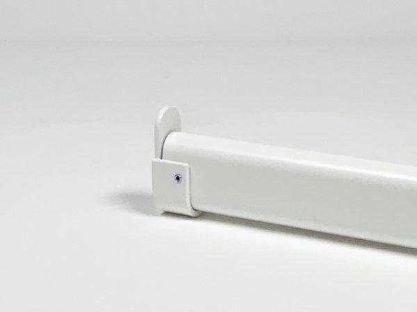 Garderobestang met buissteun ovaal RAL 9010 wit