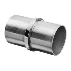 RVS 304 buisverbinder recht 33.7 en 42.4 mm