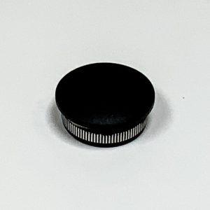 Eindkap RVS 304 zwart fijnstructuur voor buis 33.7