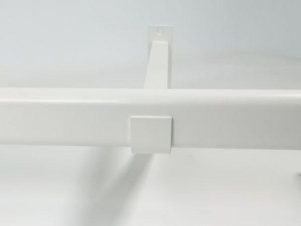 Garderobesteun Ovaal RAL 9010 wit front aanzicht