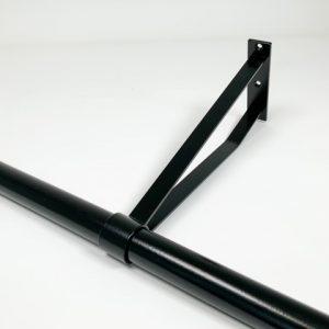 Garderobesteun extra sterk 30 cm RAL 9005 mat zwart