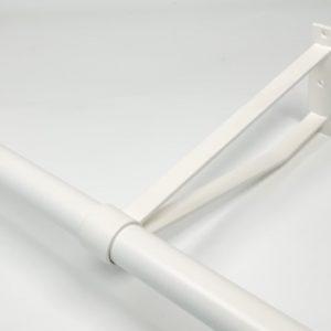 Garderobesteun extra sterk 30 cm RAL 9010 wit