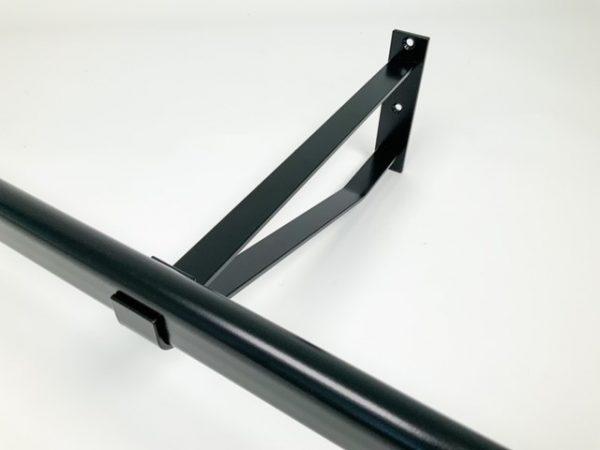 Garderobesteun extra sterk 30 cm voor ovale buis 38x20 mm
