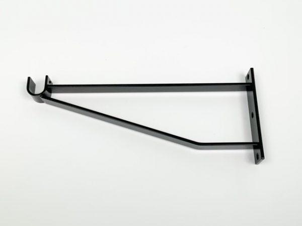 Garderobesteun extra sterk voor buis ovaal 38x20 mat zwart