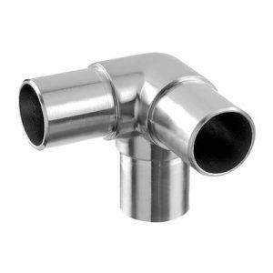 Hoekverbinder RVS voor 3 buizen diameter 33.7 mm