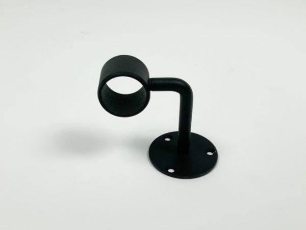 Leuningdrager RAL 9005 mat zwart fijnstructuur