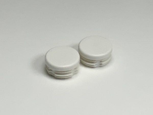 Set inslagdoppen kunststof wit voor buis