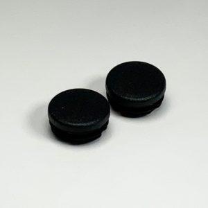 Set inslagdoppen kunststof zwart voor buis