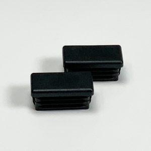 Set inslagdoppen kunststof zwart voor koker 40x20