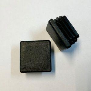 Set inslagdoppen kunststof zwart vierkant