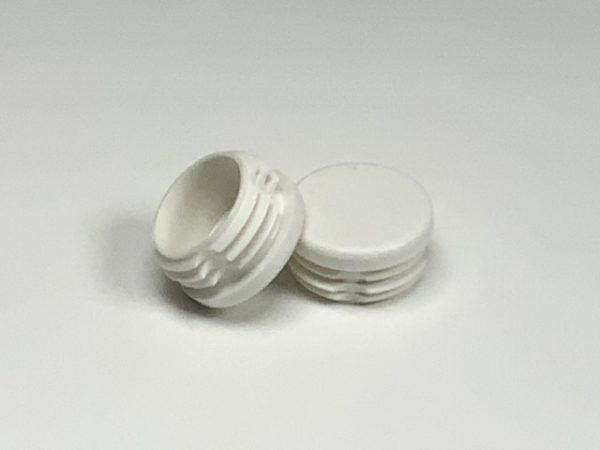 Set inslagoppen kunststof wit voor buis detail
