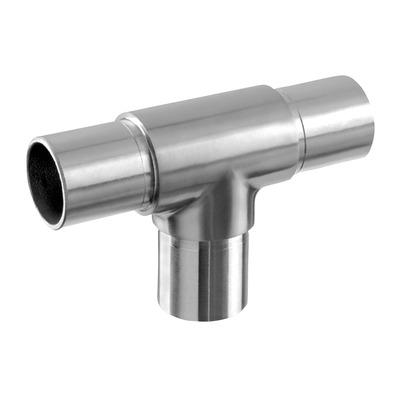 RVS 304 buisverbinder T-koppeling 33.7 en 42.4 mm