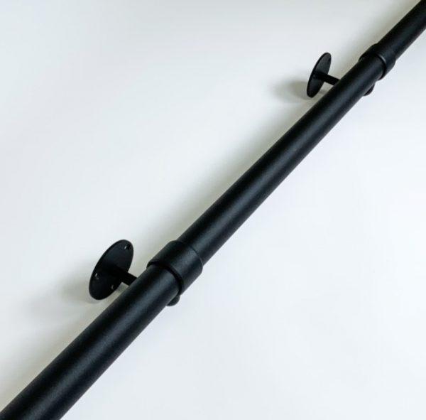 Trapleuning in zwart fijnstructuur diameter 32mm