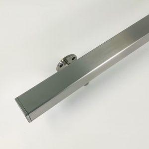 Trapleuning koker profiel 40x40 uit K320 geslepen RVS