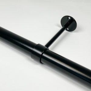 Verlengde buissteun RAL 9005 mat zwart 14 cm