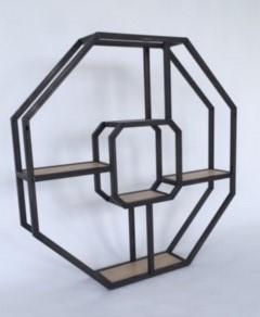 Design wandmeubel in honingraad