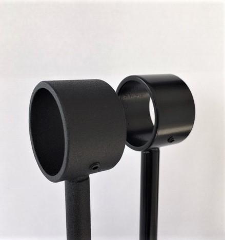 Close up RAL 9005 mat zwart 30% en fijnstructuur